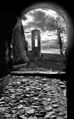 Through the castle gate