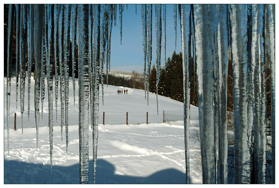 Through the icicle curtain #3