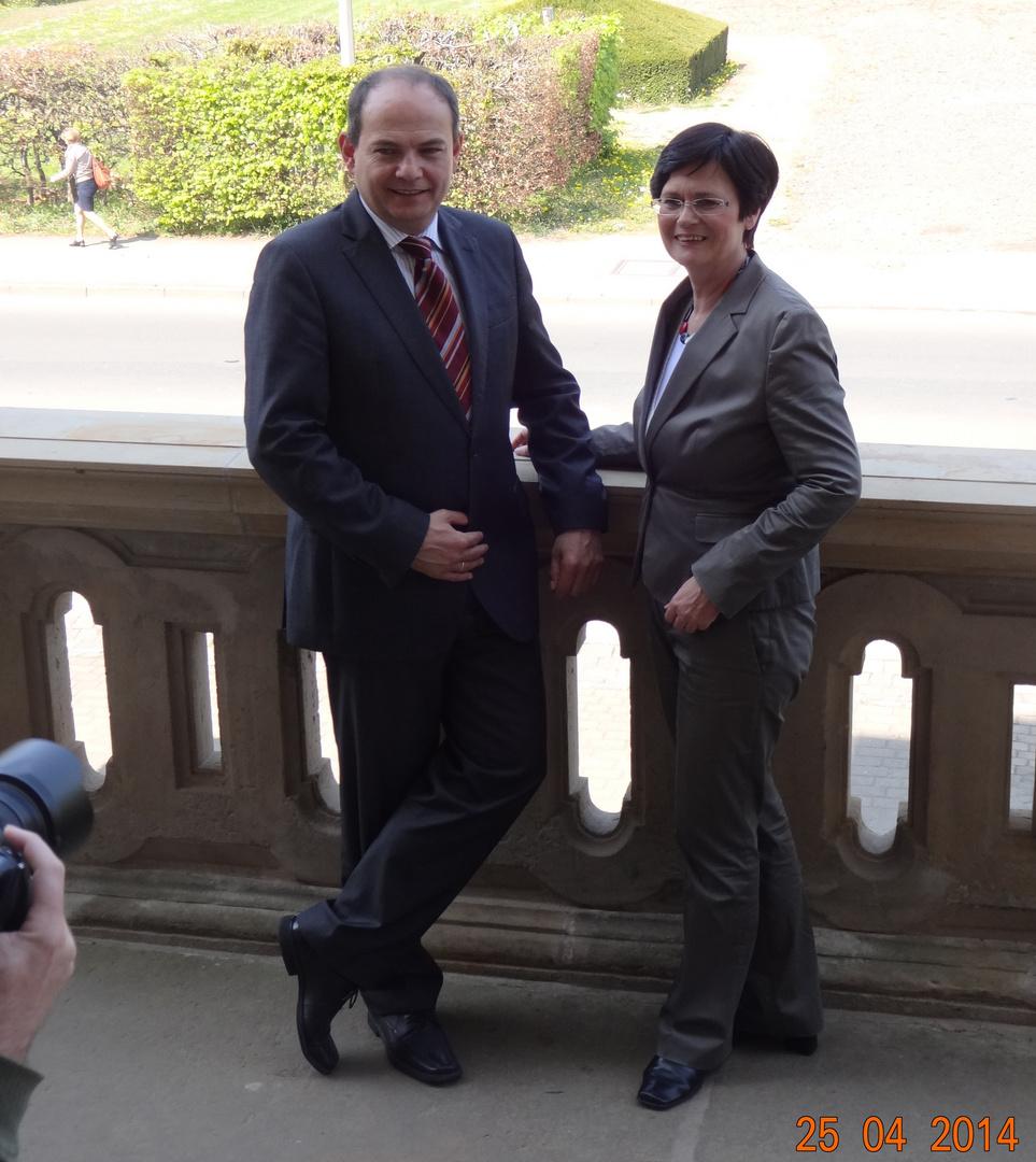 Thüringer Ministerpräsidentin auf Arbeitsbesuch in Gotha