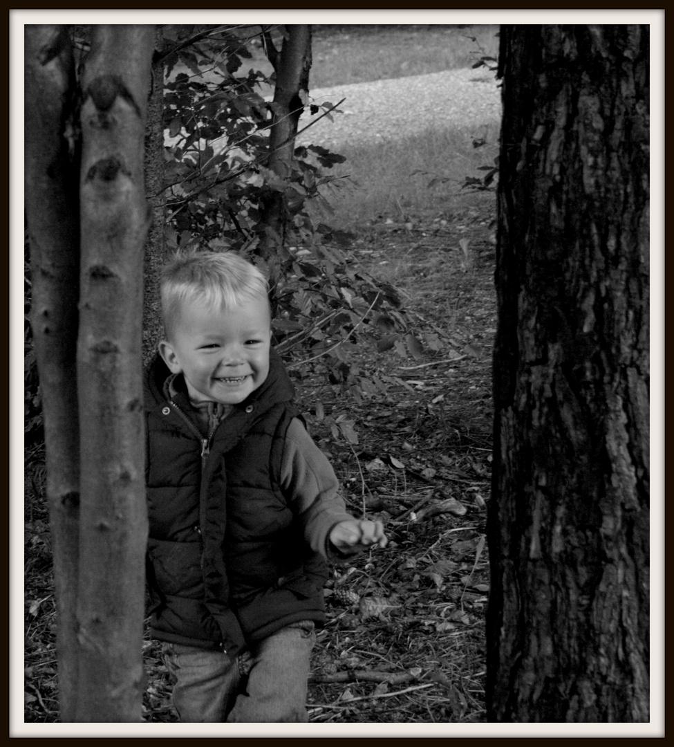 Tiago im Wald