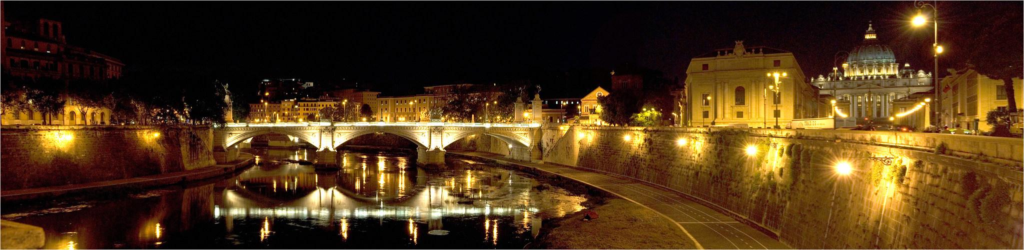 Tiberbrücke und Petersdom