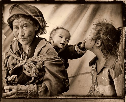 Tibet - Mother With Her Children