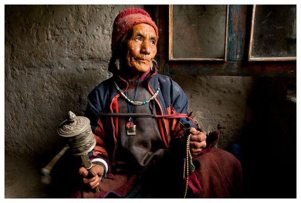 Tibetanische Gebetsmühle