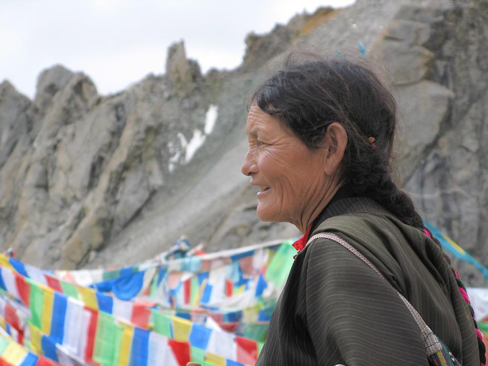 Tibeterin am Kailash