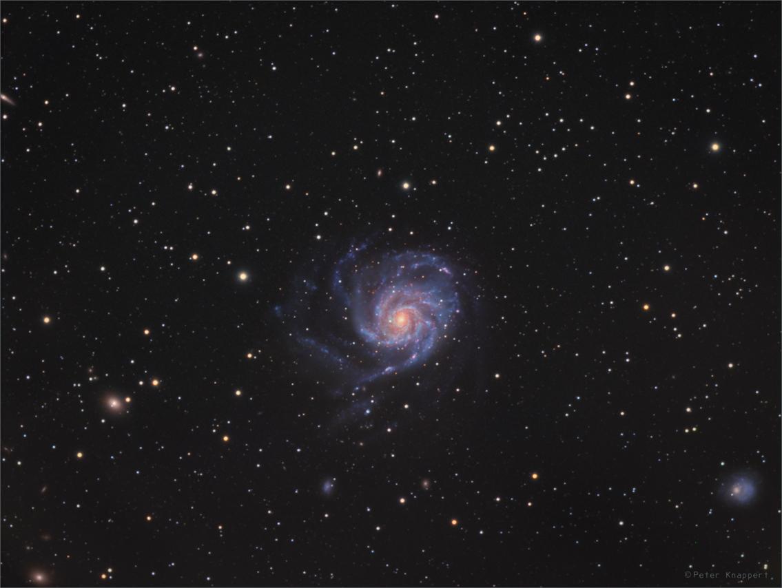Tiefes Widefield der Galaxie M101