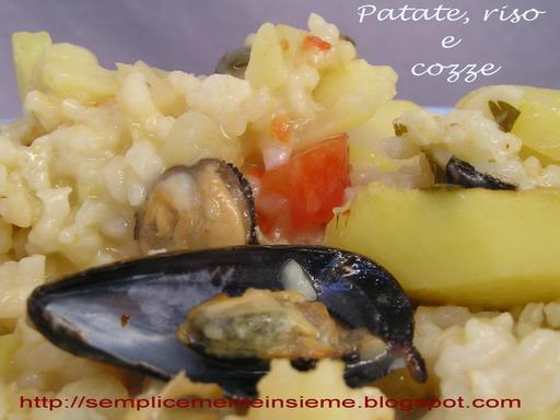Tiella di patate, riso e cozze