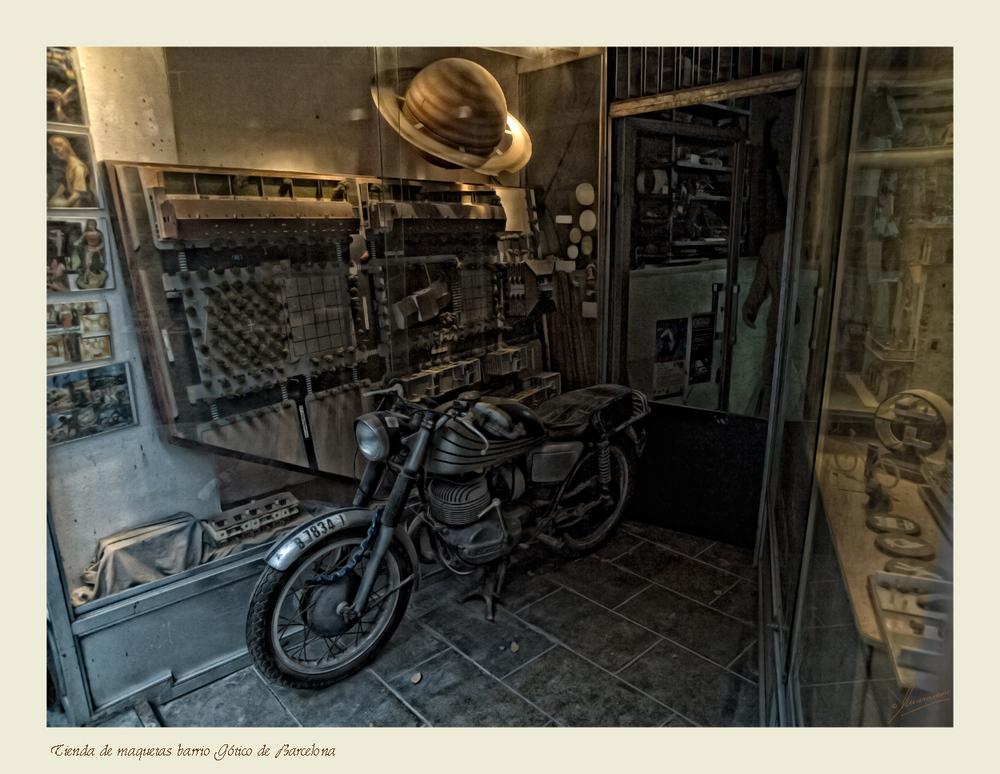 Tienda de maquetas barrio Gótico de Barcelona