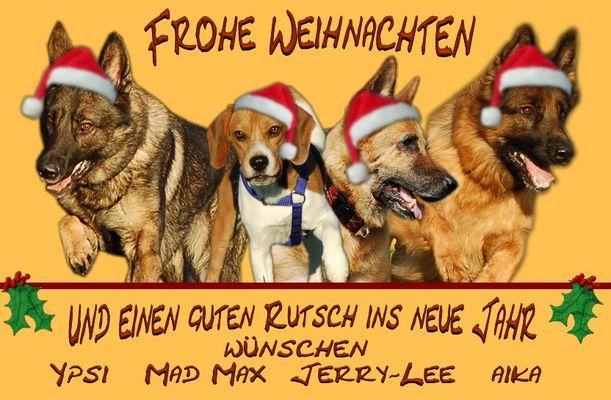 Tierische Weihnachtsgrüße ...