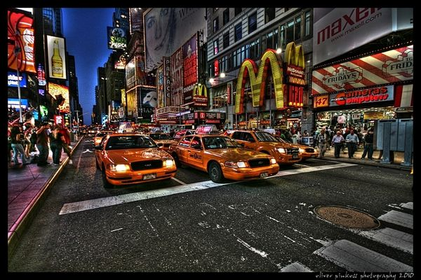 Time Square Taxis (HDR)