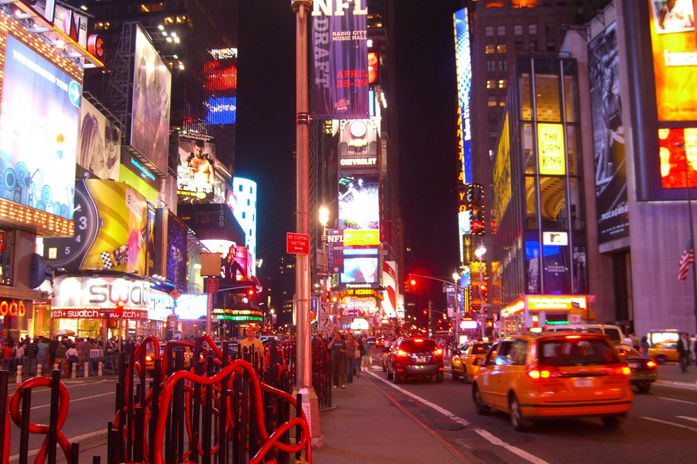 Times Square - 7th Avenue meets Broadway