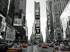 Times Square en Jaune Blanc et Noir