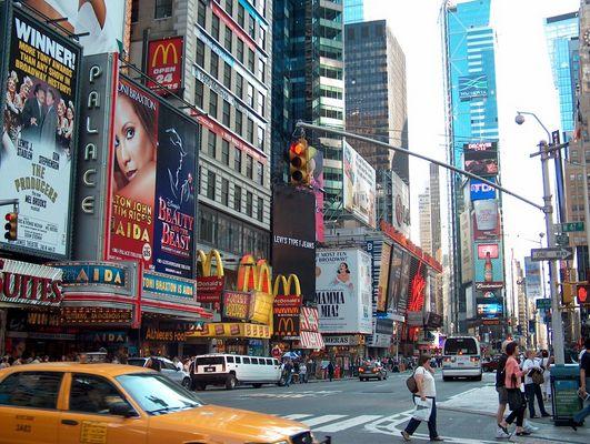 Times Square et sa vie