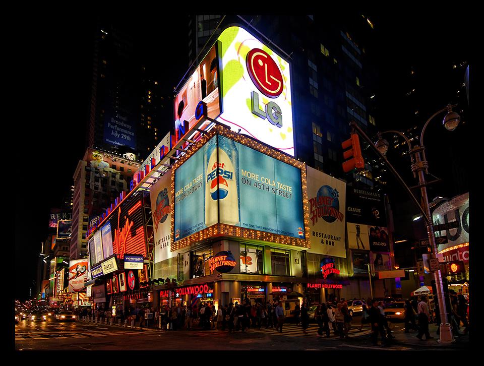 Times Square in der Nacht
