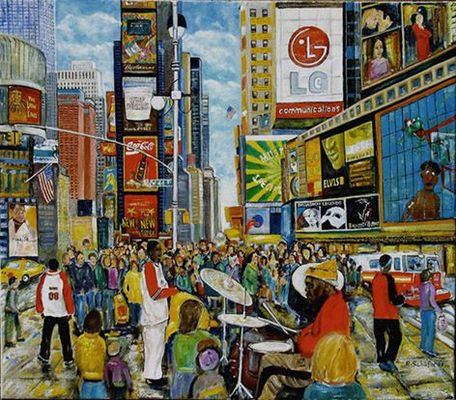 """Times Square """"in Öl"""""""