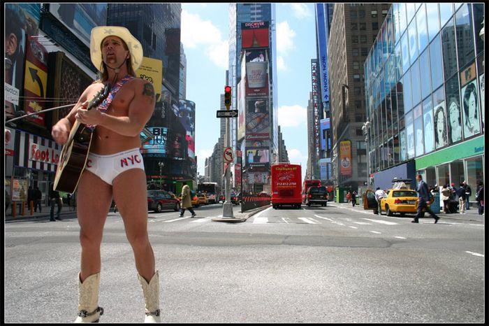 Times Square NY: Naked Cowboy