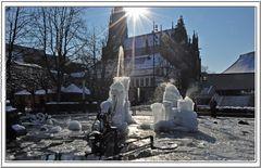 Tinguely-Brunnen in Basel ....