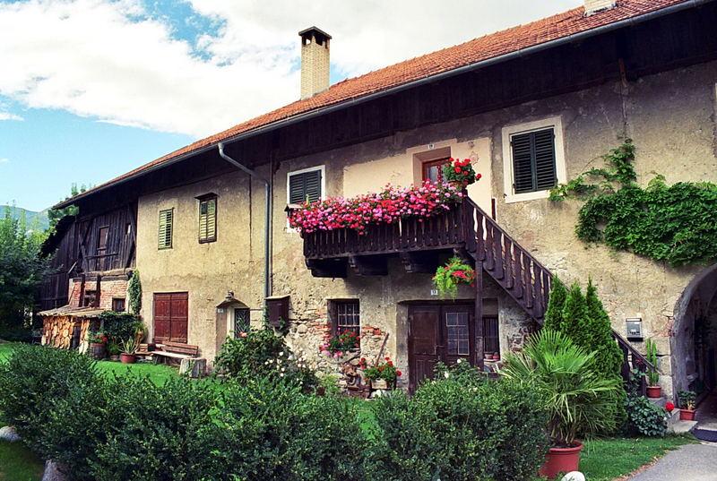 Tipica casa del Sud Tirolo