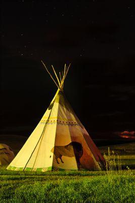 Tipicamp bei Nacht