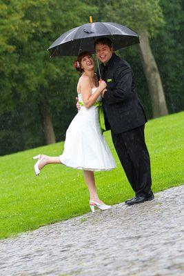 Tipps für Hochzeitsfotos im Regen