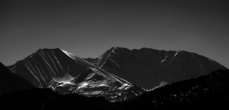 Tiroler Bergwelt im Mondlicht -> Ohne Mond
