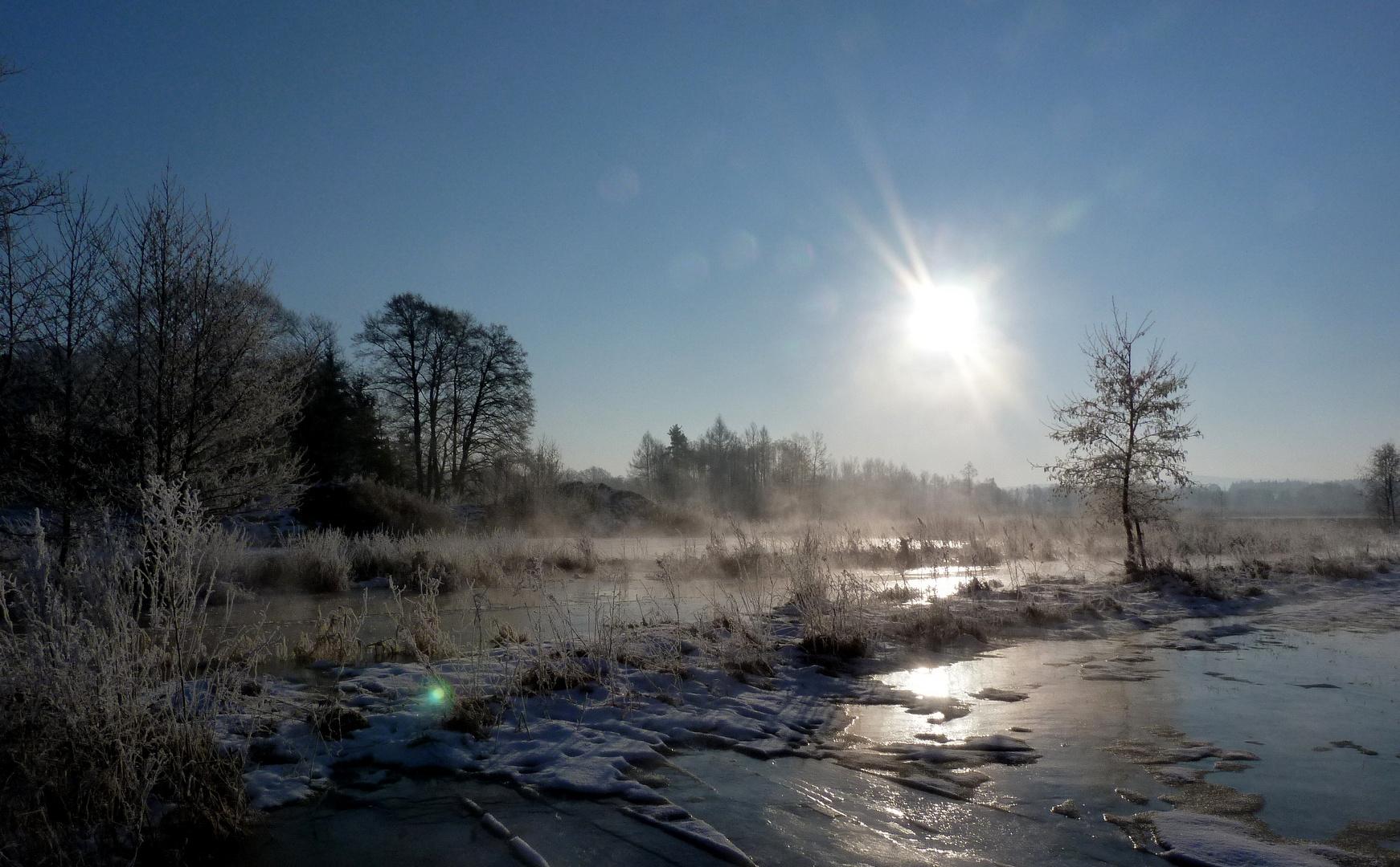 Tirschenreuth,Morgenstimmung,Nähe Lodermühle Februar 2012