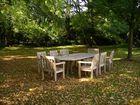 Tisch im Schlosspark Tutzing