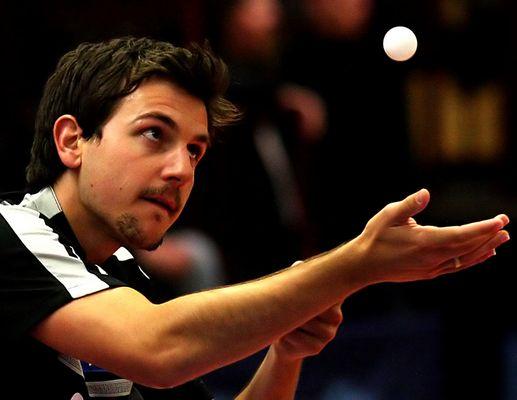 Tischtennis Timo Boll - Ball im Blick
