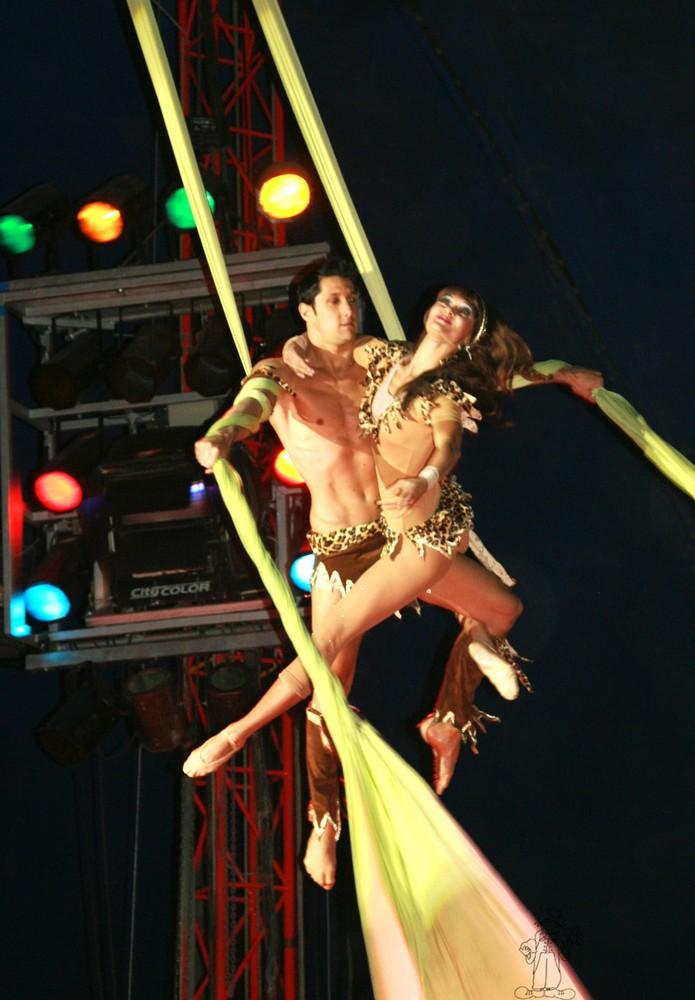 tissus aerien au cirque Pinder