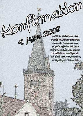 Titelbild im Kofirmationsbuch
