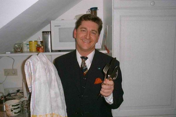 Tobias Geisler in der Küche