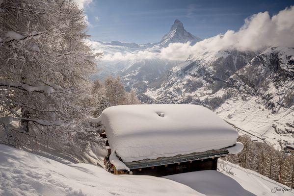 Toblerone im Schnee