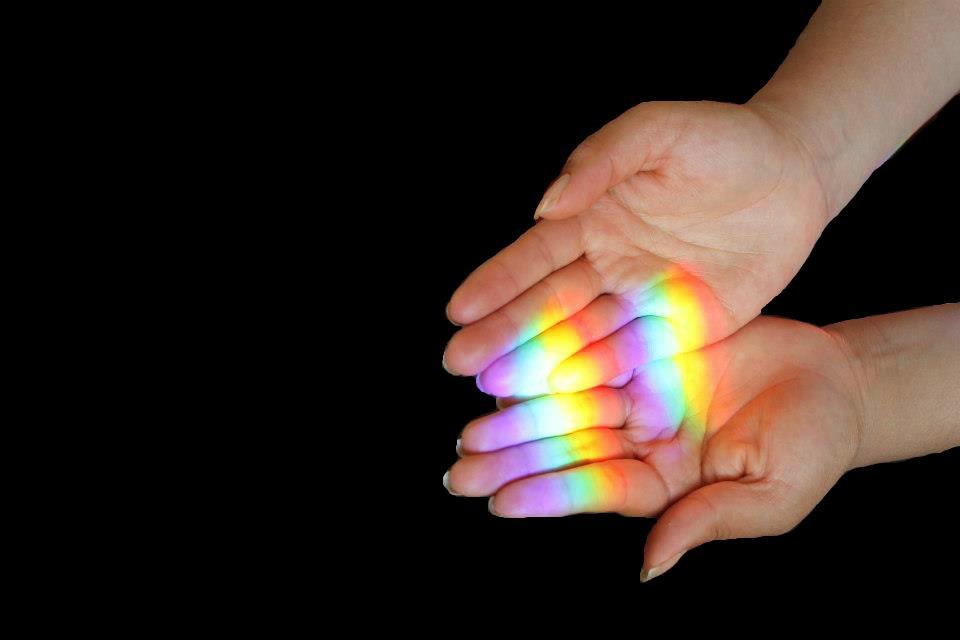 Tocando el arcoiris!