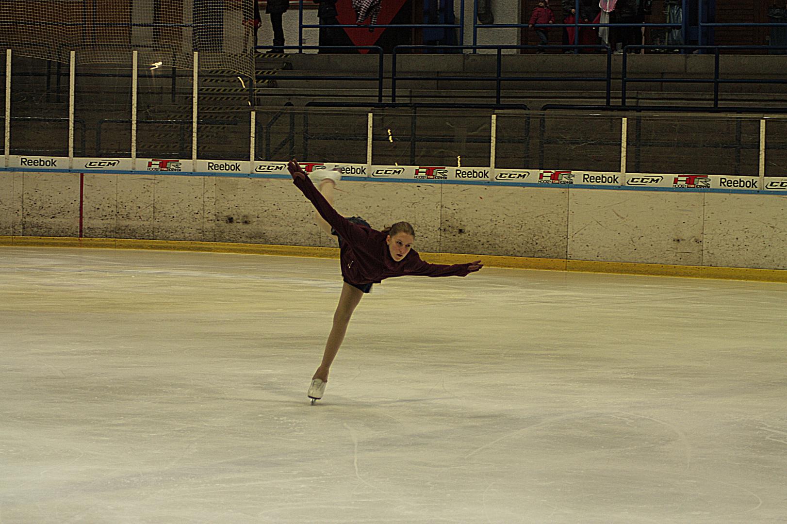 Tochter am Eis