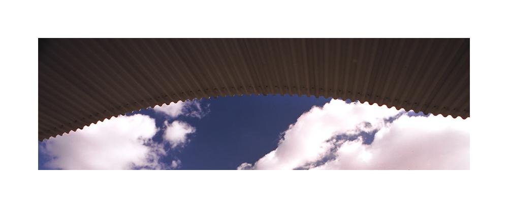 toit, ciel, nuages