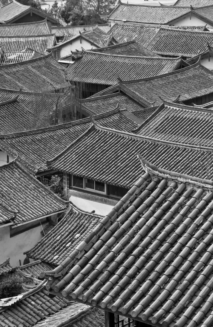Toitures de la vieille ville de Lijiang