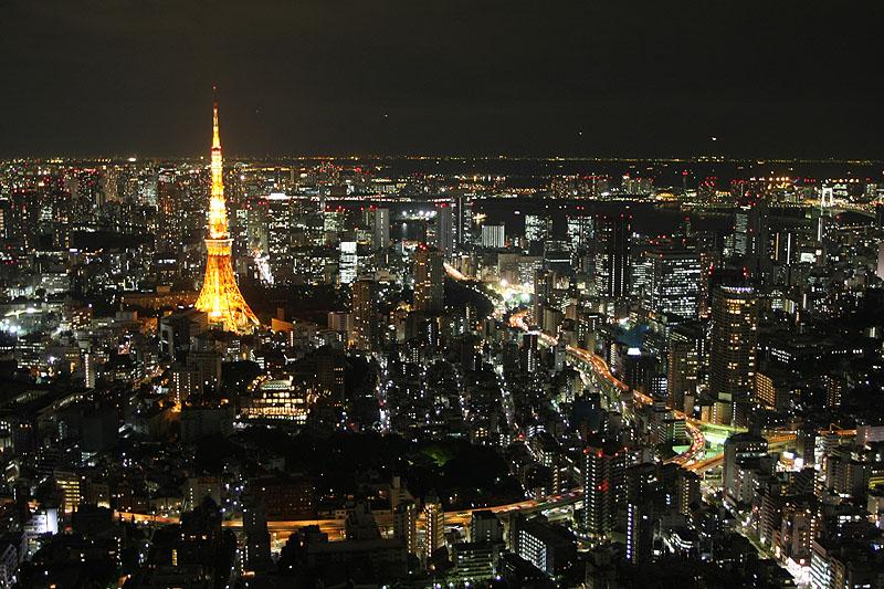 Tôkyô by night, view from Roppongi Hills