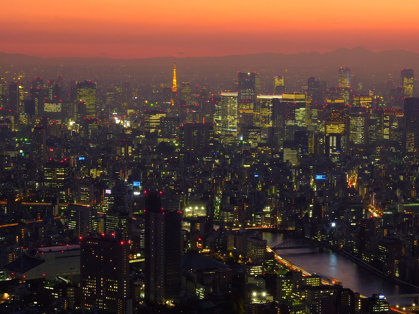 Tokyo seen from Skytree