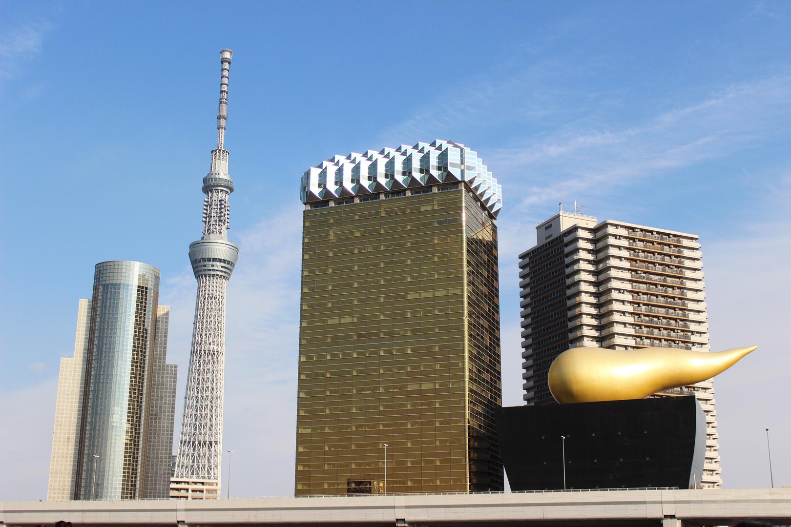 Tokyo Skytree und Asahi Hauptgebäude