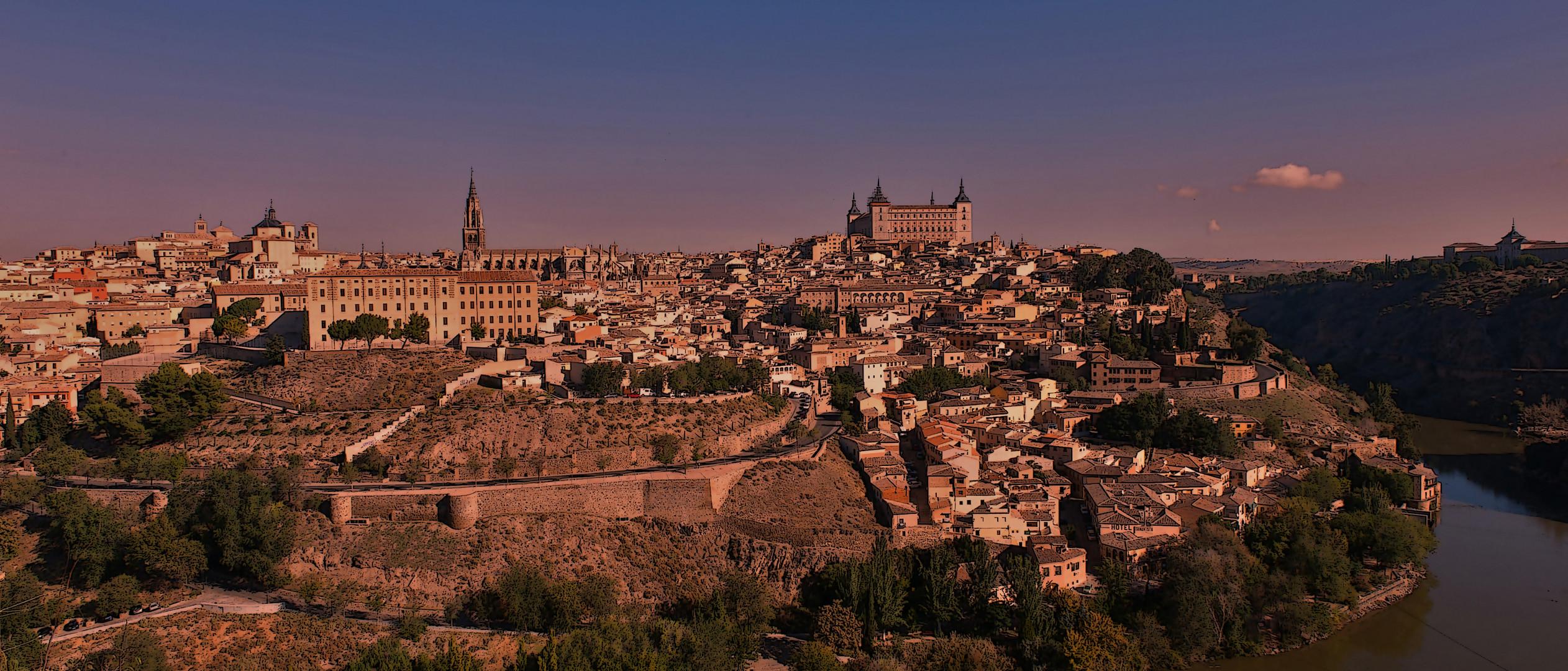 Toledo al caer la tarde...