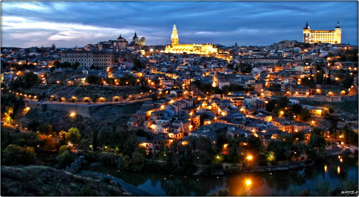 Toledo at night.