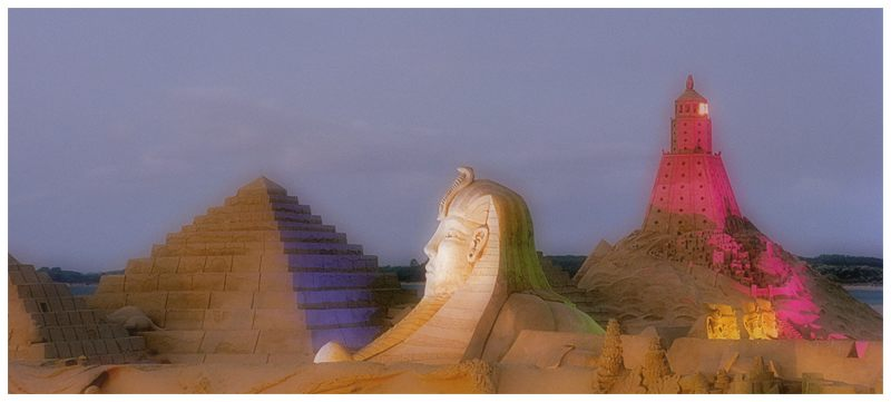 tolle Bauten aus Sand, super Farben das war die SW 2003