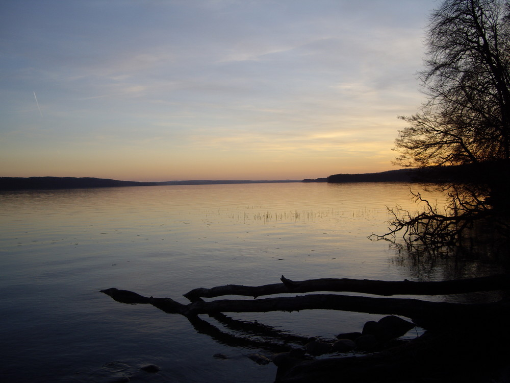 Tollensesee am Abend