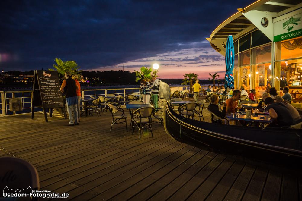 Toller Ausblick zum Abendessen auf der Seebrücke Heringsdorf oder? Da schmeckt die Pizza gleich bess