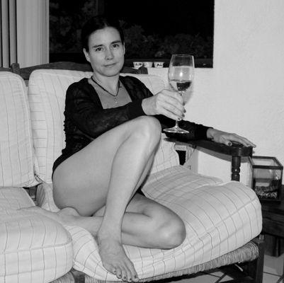 Tomando vino