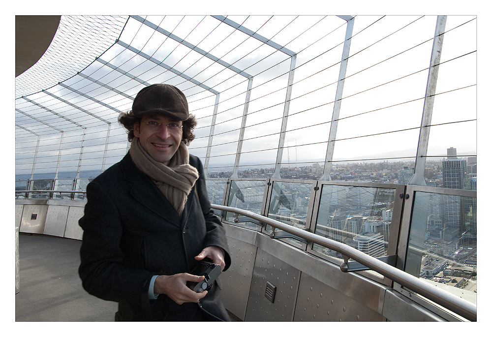 Tomas on top of the space needle