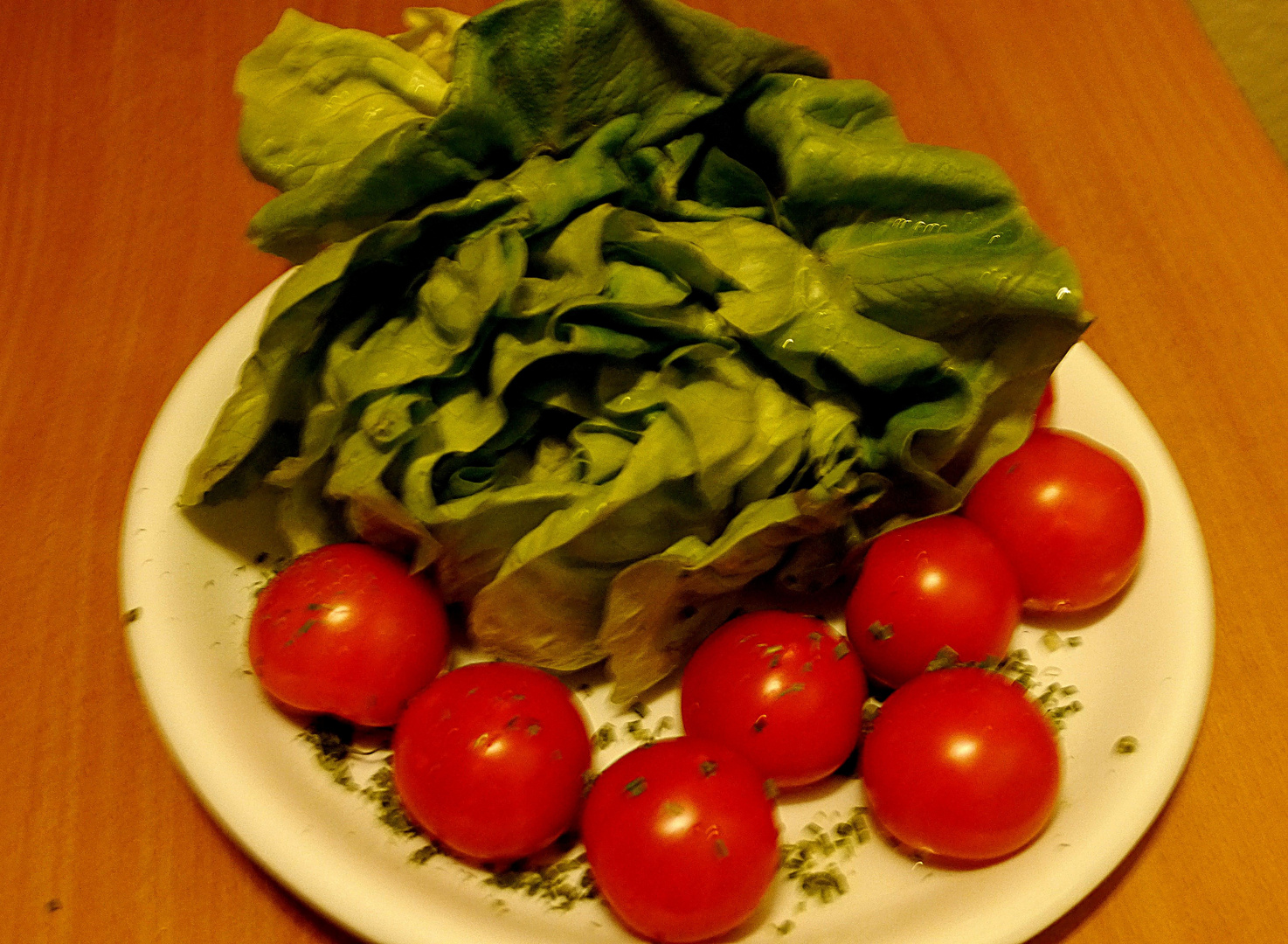 Tomaten und Kopfsalat