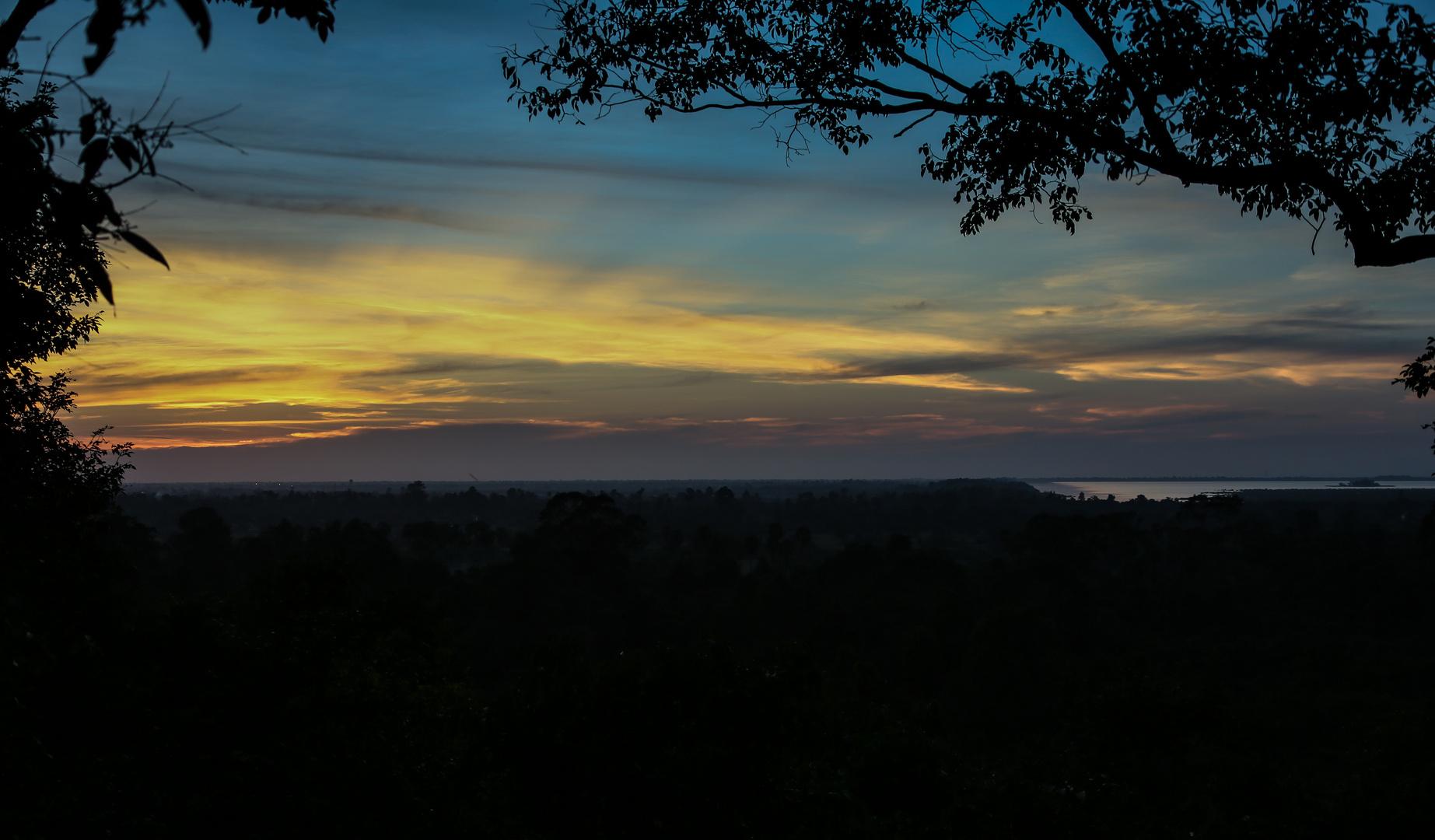 Ton le Sap im Sonnenuntergang