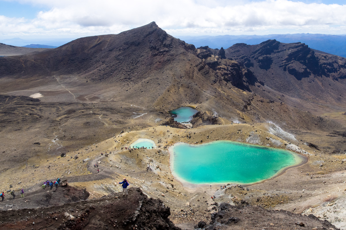 Tongariro Crossing , Emerald Lakes