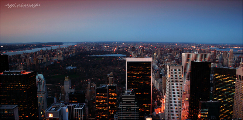 top of the rock - view - nord