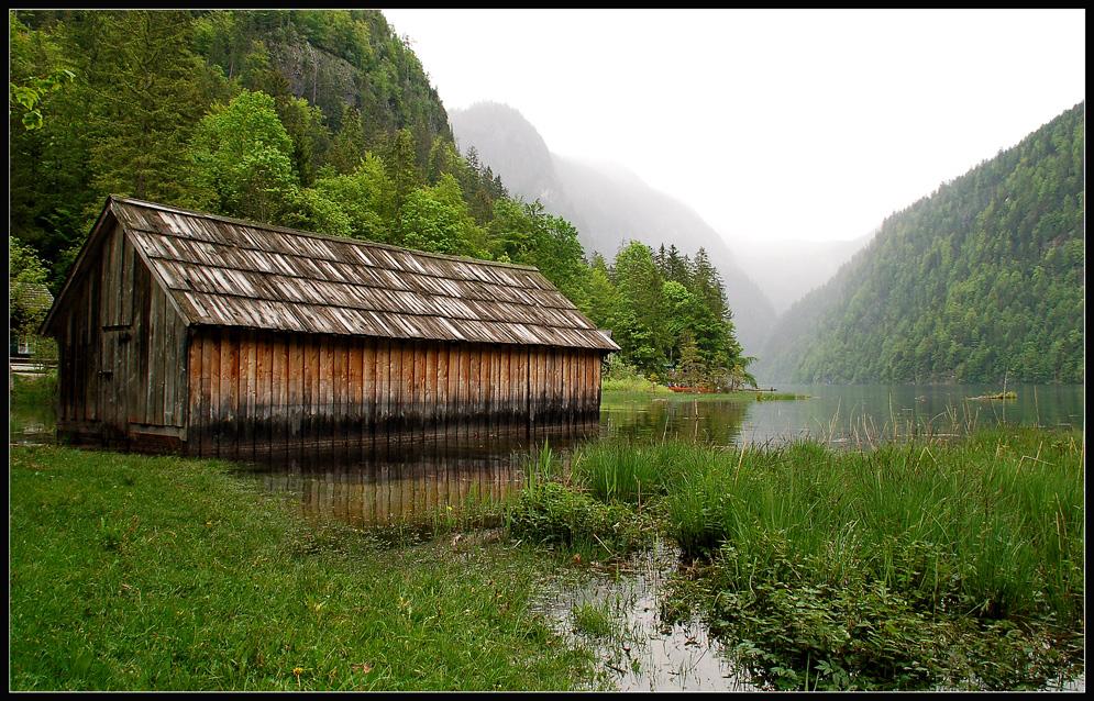 Toplitzsee mit Bootshaus